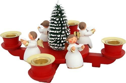 advent candle holder with 4 angels. Black Bedroom Furniture Sets. Home Design Ideas