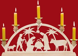 Arch and children candlestick Christbirth