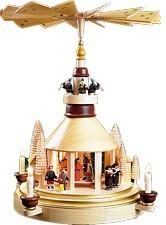 Christmas pyramid, Seiffen church