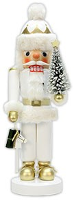 Nutcracker Santa Claus in white