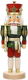 Nutcracker king green stained