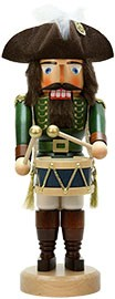 Nutcracker drummer green stained