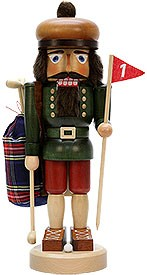 Nutcracker golfer stained