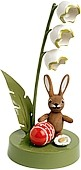 Rabbit with lily of the valley