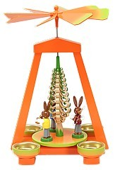 Easter pyramid orange/green