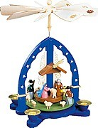 Christmas Pyramid Nativity, blue