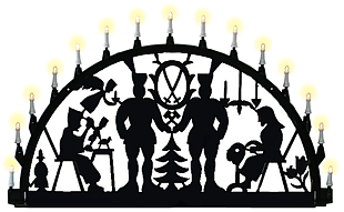 outdoor candle arch, miner - Erzgebirge