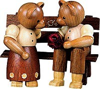 Bear Couple on bench