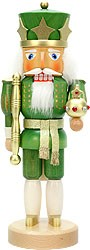 nutcracker king green/gold glazed