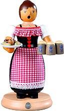 incense smoker, waitress on Oktoberfest, large