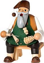 incense smoker, splint tree carver, sitting - the bearded men -