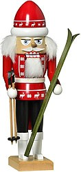nutcracker skier red