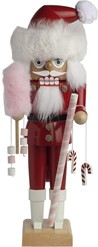 Nutcracker candy cane santa