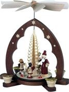 pyramid gift giving pointed arch