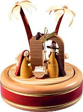 musical box Nativity 22 polyphonic plaything, new natural wood design