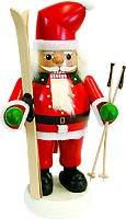 nutcracker Santa with skis