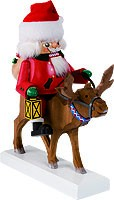 nutcracker Santa on reindeer
