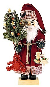 Nutcracker Santa Claus country house, red