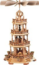 Pyramid forest motif 3tiered natural