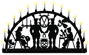 outdoor candle arch, miner - Schwarzenberg