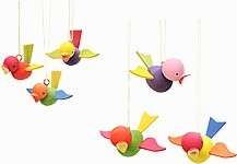 tree ornaments flying bird