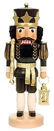 Nutcracker king black/gold glazed